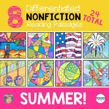 Summer Activity Nonfiction Reading Comprehension