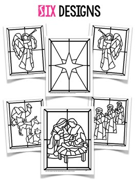 quot Stained Glass quot Christmas Nativity