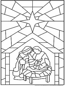 Kleurplaat Kerst Christelijk Quot Stained Glass Quot Christmas Nativity Scene Collaboration