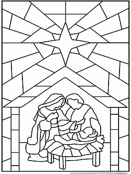 Quot Stained Glass Quot Christmas Nativity Scene Collaboration