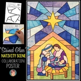 """Stained Glass"" Christmas Nativity Scene Collaboration Poster"