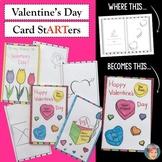 Valentine's Day Card stARTers | Creative Valentine's Day Activity