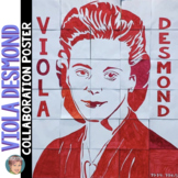 Viola Desmond Collaboration Poster - Great Women's History Month Activity!