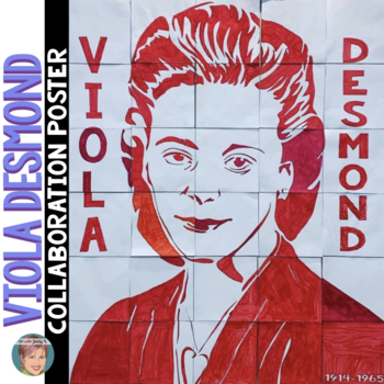 Viola Desmond Collaboration Poster - Great Women's History Month Activity!