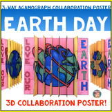 3D Earth Day Agamograph Collaboration Poster - A Unique Earth Day Activity!
