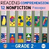 12 Reading Comprehension Passages   Great 2nd Grade Back to School Activity