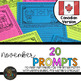 Canadian NOVEMBER Writing Prompts & Word Work