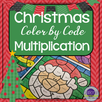 Christmas Color by Number Multiplication