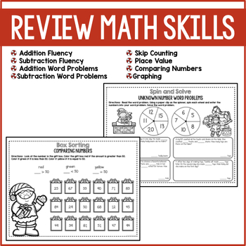 Christmas Math Review with a Twist {2nd Grade}