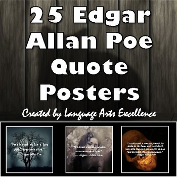 Edgar Allan Poe Quote Posters