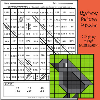 Fall 2 Digit Multiplication and Long Division Puzzles