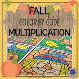 Fall Math Color by Number Multiplication