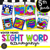 Color by Sight Word | Winter Activities | Fifth Grade Sight Words