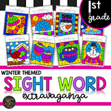 Color by Sight Word | Winter Activities | First Grade Dolch and Fry Sight Words