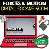Forces & Motion Digital Escape Room, Breakout Room, No Prep