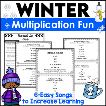 Multiplication Activities Color By Code Winter Pictures