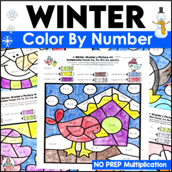 A Multiplication Activities Color By Number Winter