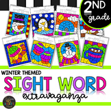 Second Grade Sight Word Color by Code Winter Activities