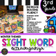 Color by Sight Word |Winter Activities | Third Grade Sight Words