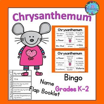 Chrysanthemum Activities:  Book Companion (Bingo and Flap