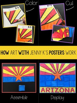 Arizona State Flag Collaborative Poster