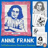 Anne Frank Collaborative Portrait - Great Women's History Month Activity