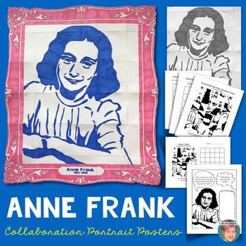 Anne Frank Collaborative Portrait - Great Women's History Month Activity