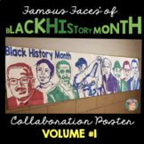 Black History Month Activity: Famous Faces of Black History Collaboration Poster