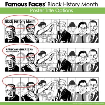 Black History Month Activity: Famous Faces™ Collaborative Poster [v1] w/ MLK Jr