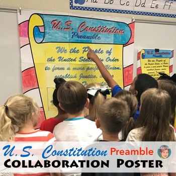 Constitution Preamble Collaboration Poster: Great CONSTITUTION DAY Activity