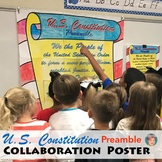 U.S. Constitution Preamble Collaboration Poster: Great CONSTITUTION DAY Activity
