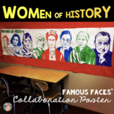 Women's History Month  - Famous Faces of Women's History Collaboration Poster