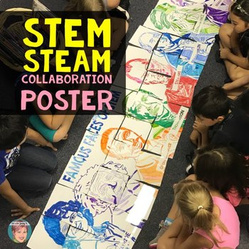 Famous Faces of STE(A)M - Great Way to Promote STEM or STEAM Activities!