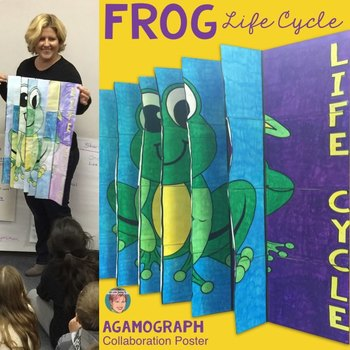 Life Cycle of a Frog 3-Way Agamograph Collaboration Poster