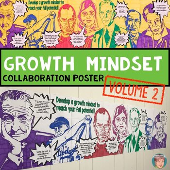 """Famous Faces"" Growth Mindset Poster Volume 2 - Great Collaborative Activity!"