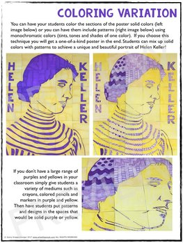 Helen Keller Collaboration Poster - Great Women's History Month Activity!