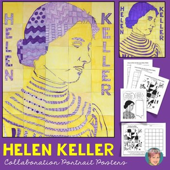 Helen Keller Collaboration Poster - Great Deaf History Month Activity!