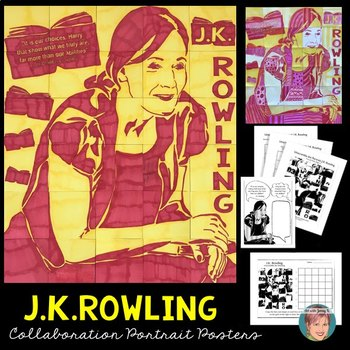 J.K. Rowling Collaboration Poster - Great Women's History Month Activity!