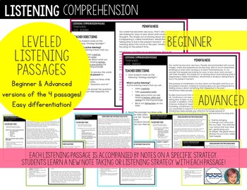 Listening Comprehension Passages: Social-Emotional Learning