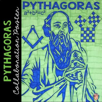 Pythagoras Collaboration Poster: Great for the Pythagorean Theorem