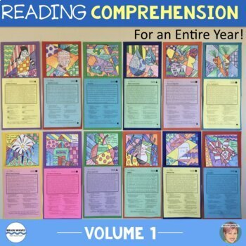 Nonfiction Reading Comprehension Passages & Questions [v1] (w/ Johnny Appleseed)