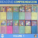 12 Reading Comprehension Passages [v1] Back to School Activity + All Year!