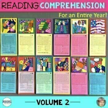 12 Nonfiction Reading Comprehension Passages - Vol. 2 {incl Bats & Turkeys}