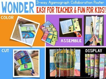 WONDER Novel Study 3-Way Collab Poster - Great for We're All Wonders too !