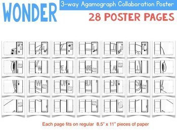 WONDER Novel Study Agamograph Poster Activity {We're All Wonders, R.J. Palacio}