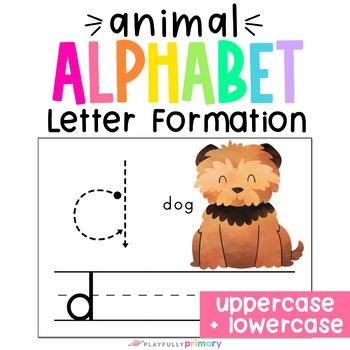 Animal Alphabet Handwriting Practice