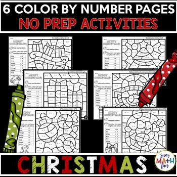 Christmas - Addition and Subtraction Color by Number