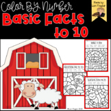 Color By Number Basic Facts to 10