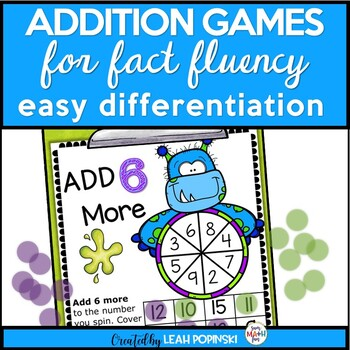Addition Games - Easy Differentiation