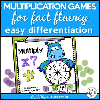 Multiplication Games - Easy Differentiation - Monster Theme